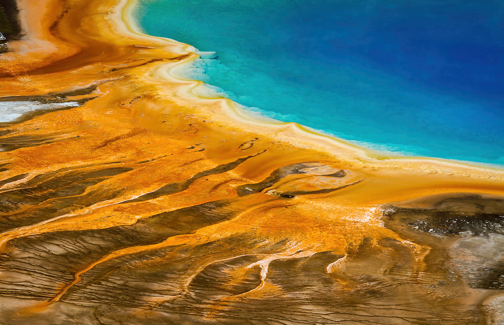 Grand Prismatic Spring viewed from above.