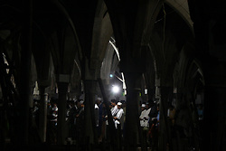 May 27, 2017 - Cibitung Sub-District, West Java, Indonesia - Muslims perform an evening prayer called ''Taraweh'' at Jammi Annawawiyyah Mosque, Cibitung sub-district, Bekasi, West Java, after they done their first fasting day on the holy month of Ramadhan. (Credit Image: © Tubagus Aditya Irawan/Pacific Press via ZUMA Wire)