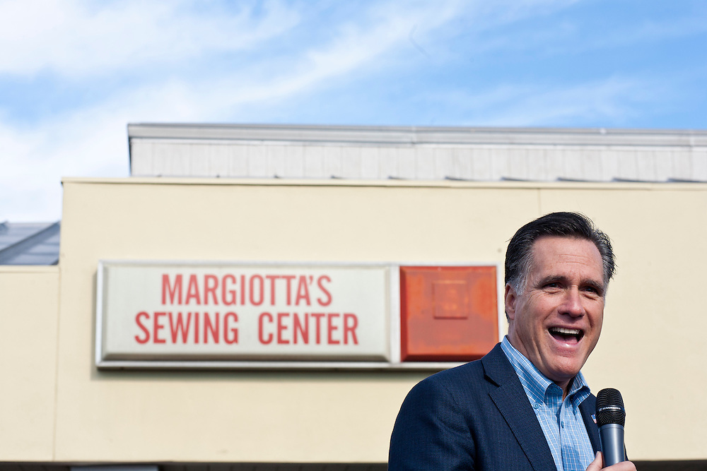 Republican presidential candidate Mitt Romney holds a campaign rally on Thursday, January 19, 2012 in Charleston, SC.