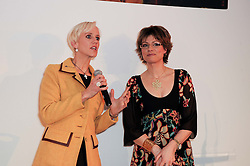 Left to right, LAURA TENISON and KATE SILVERTON at the presentation of the Veuve Clicquot Business Woman Award 2010 held at the Institute of Contemporary Arts, 12 Carlton House Terrace, London on 23rd March 2010.  The winner was Laura Tenison - Founder and Managing Director of JoJo Maman Bebe.