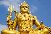 30 SEPTEMBER 2012 - BANGKOK, THAILAND: A Buddha statue at the Shiva Temple in the Raminthra neighborhood of Bangkok, Thailand. The temple is popular with Bangkok's Indian community.      PHOTO BY JACK KURTZ