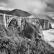 Bixby Bridge - Big Sur, CA -  HDR -  Infrared Black & White
