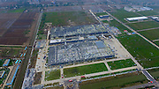 FUNING, CHINA - JUNE 24: (CHINA OUT)<br />  An aerial view of damaged factories at Funing economic and technological development zone on June 24, 2016 in Funing, Jiangsu Province of China. A heavy hail and strong tornado hit Funing city in eastern China\'s Jiangsu province on June 23, causing at least 98 people dead and some 800 injured, according to the local media.<br /> ©Exclusivepix Media