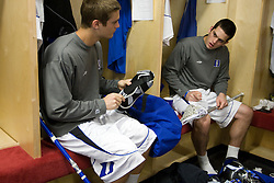 18 May 2008: Duke Blue Devils midfielder Brandon Allen (13) and midfielder Tom Montelli (11) before a 21-10 win over the Ohio State Buckeyes during the NCAA quarterfinals held at Cornell University in Ithaca, NY.