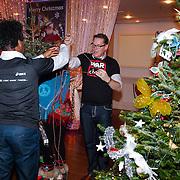 NLD/Hilversum/20121207 - Skyradio Christmas Tree, Rogier Komproe en Albrt Verlinde