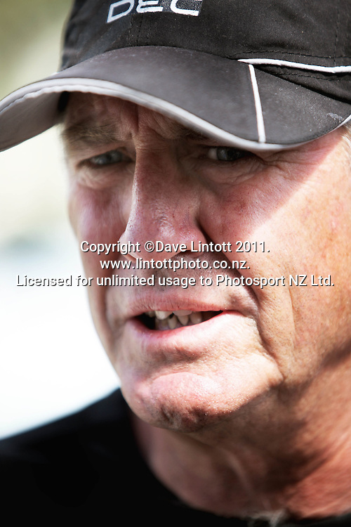Black Caps coach John Wright. Black Caps cricket training at Allied Prime Basin Reserve, Wellington, New Zealand on Thursday, 13 January 2011. Photo: Dave Lintott / photosport.co.nz