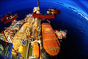 The Solitaire, the largest pipe-laying vessel in the world is photographed as part of an industrial photography session in the Gulf of Mexico for Enbridge Energy.