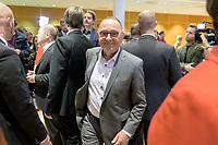 26 OCT 2019, BERLIN/GERMANY:<br /> Norbert Walter-Borjans, SPD, Landesminister a.D., nach der Bekanntgabe der SPD-Mitgliederbefragung  zur Wahl des neuen Parteivorsitzes, Willy-Brandt-Haus<br /> IMAGE: 20191026-01-065<br /> KEYWORDS: Verkündung, Verkeundung