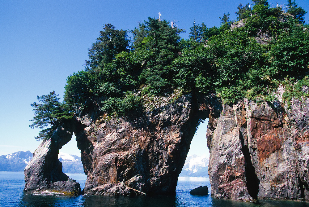 Alaska, Kenai Fjords National Park, Kenai Fjords, National Park, Aialik Bay, Window rock, Three hole point, Three-hole point,