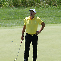 Jean-Francois Remesy reacts to his missed birdie putt on the 7th hole at the 2016 American Family Championship held at University Ridge Golf Course, Madison,  WI. on June 25, 2016.<br /> <br /> <br /> <br /> <br /> <br />  2016 American Family Championship held at University Ridge Golf Course, Madison,  WI. on June 25, 2016.