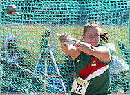 PORT ELIZABETH, SOUTH AFRICA, Friday 13 April 2012, Nanette Stapelberg in the women's hammer throw during the Yellow Pages South African Senior and Combined Events Championships held at the Xerox Nelson Mandela Metropolitan University, Nelson Mandela Bay..Photo by Roger Sedres/Image SA/ASA