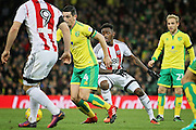 Norwich City midfielder Graham Dorrans on the ball during the EFL Sky Bet Championship match between Norwich City and Brentford at Carrow Road, Norwich, England on 3 December 2016. Photo by Nigel Cole.