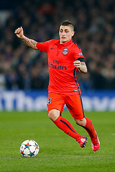 Marco Verratti of Paris Saint-Germain in action - Photo mandatory by-line: Rogan Thomson/JMP - 07966 386802 - 11/03/2015 - SPORT - FOOTBALL - London, England - Stamford Bridge - Chelsea v Paris Saint-Germain - UEFA Champions League Round of 16 Second Leg.