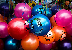 © Licensed to London News Pictures. <br /> 06/06/2014. <br /> <br /> Middlesbrough, England<br /> <br /> Balloons hang on a stall at the start of the 24th Middlesbrough Mela event.<br /> <br /> The Middlesbrough Mela has become the largest and most spectacular multicultural festival in the North East.<br /> <br /> Photo credit : Ian Forsyth/LNP