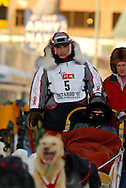 3/3/2007:  Anchorage Alaska -  Veteran Ramy Brooks of Healy, AK during the Ceremonial Start of the 35th Iditarod Sled Dog Race