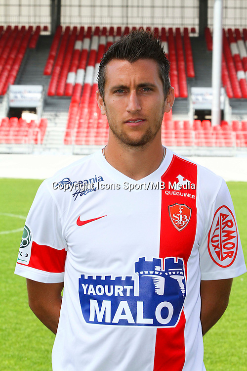 Stephane TRITZ - 08.09.2014 - Photo officielle Brest - Ligue 2 2014/2015<br /> Photo : Maxime Kerriou / Icon Sport
