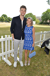 JIM CHAPMAN and PIPS TAYLOR at the Flannels For Heroes cricket competition in association with Dockers held at Burton Court, Chelsea, London on 19th June 2015