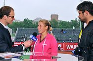 ALONA BONDARENKO (UKRAINE) DURING TV INTERVIEW WHILE  INTERNATIONAL WOMEN TENNIS TOURNAMENT WTA POLSAT WARSAW OPEN AT LEGIA'S COURTS IN WARSAW, POLAND...WARSAW , POLAND , MAY 17, 2010..( PHOTO BY ADAM NURKIEWICZ / MEDIASPORT )..PICTURE ALSO AVAIBLE IN RAW OR TIFF FORMAT ON SPECIAL REQUEST.