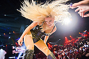 Kesha performing at the iHeartRadio Music Festival at the MGM Grand Arena on Saturday, September 21, 2013.