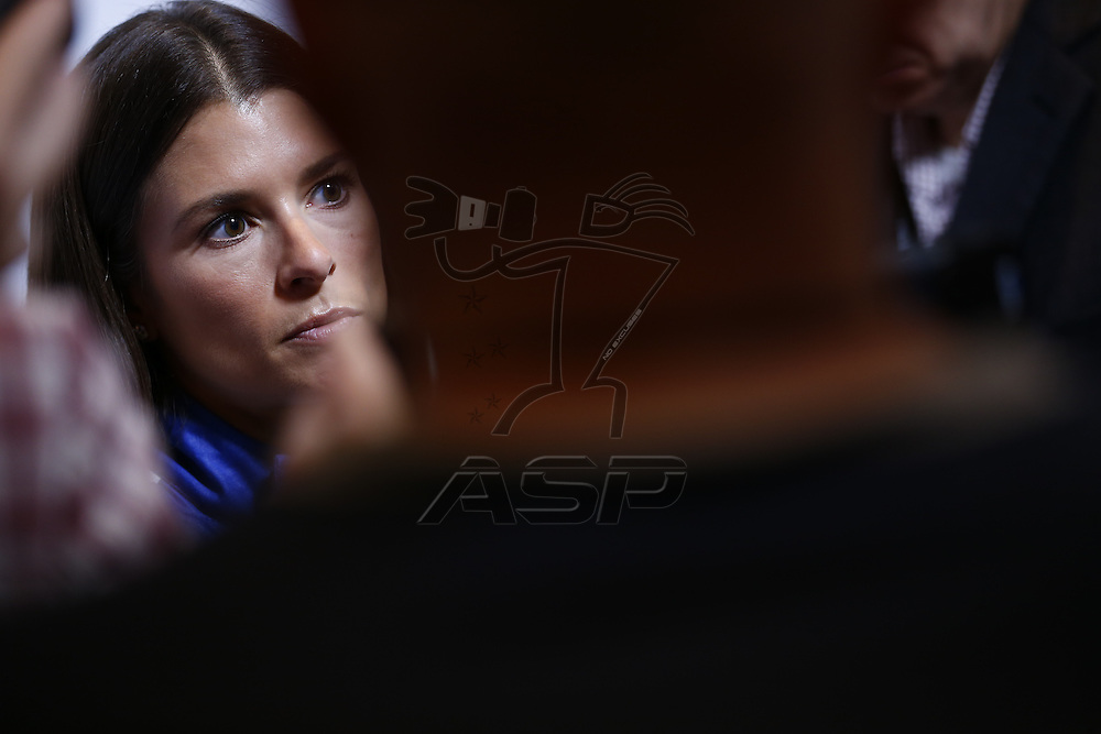 Daytona Beach, FL - Feb 22, 2017: Danica Patrick (10) meet with the media during the annual Daytona 500 Media Day at the Daytona International Speedway in Daytona Beach, FL.