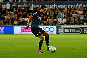 Lewis Baker (34) of Leeds United during the EFL Sky Bet Championship match between Swansea City and Leeds United at the Liberty Stadium, Swansea, Wales on 21 August 2018.