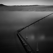 San Mateo Bridge over the San Francisco Bay. California.