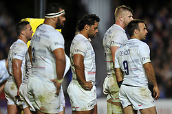 Billy Vunipola of Saracens looks dejected after his team concede a try - Photo mandatory by-line: Patrick Khachfe/JMP - Mobile: 07966 386802 03/10/2014 - SPORT - RUGBY UNION - Bath - The Recreation Ground - Bath Rugby v Saracens - Aviva Premiership
