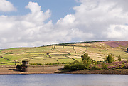 Yorkshire, UK Aug 31: Shadows dance on the hills above Digley Reservoir on 31 Aug 2014 at Holme Valley, nr Holmeforth