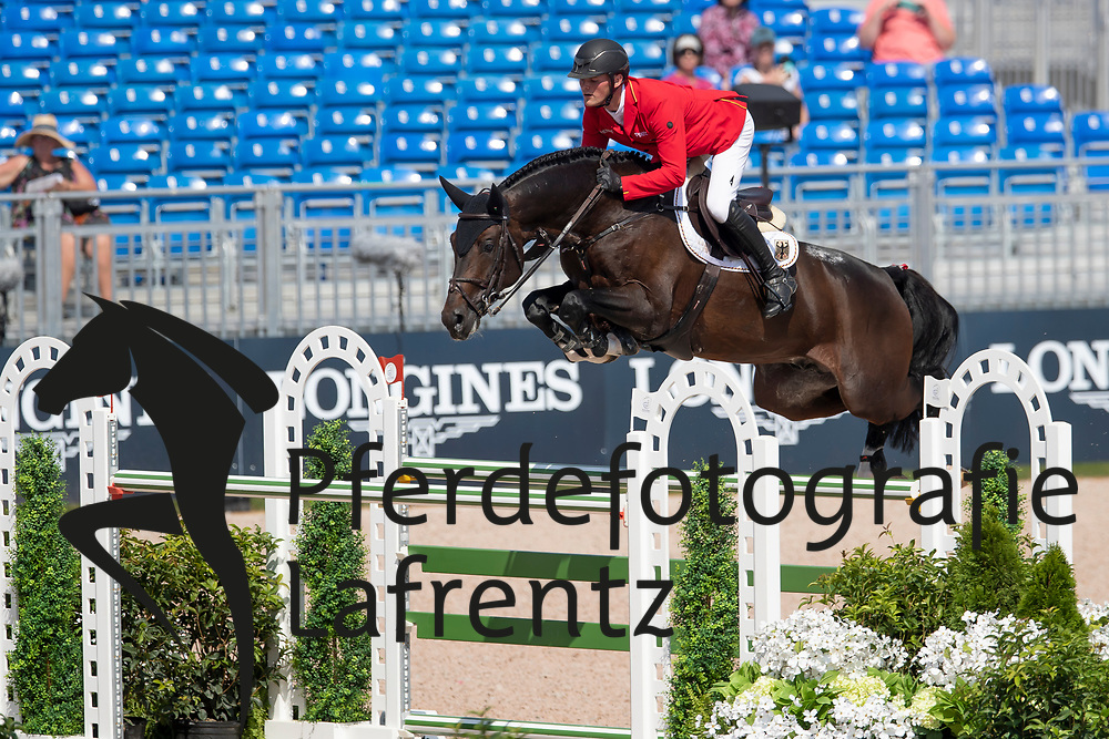 Tebbel Maurice, GER, Don Diarado<br /> Tryon - FEI World Equestrian Games™ 2018<br /> Springen Zeitspringprüfung Teamwertung Einzelwertung 1 Runde<br /> 19. September 2018<br /> © www.sportfotos-lafrentz.de/Dirk Caremans