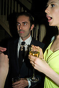GIAMBATTISTA VALLI AND ELETTRA WIEDEMANN, Pre Bafta dinner hosted by Charles Finch and Chanel. Mark's Club. Charles St. London. 9 February 2008.  *** Local Caption *** -DO NOT ARCHIVE-© Copyright Photograph by Dafydd Jones. 248 Clapham Rd. London SW9 0PZ. Tel 0207 820 0771. www.dafjones.com.