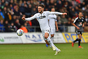 Matt Grimes (21) of Swansea City on the attack during the EFL Sky Bet Championship match between Swansea City and Reading at the Liberty Stadium, Swansea, Wales on 27 October 2018.