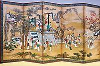 Japon, île de Honshu, région de Shizuoka, Atami,  MOA, le Musée d'art moderne, l'empereur Xuanzong et la court des femmes, periode Edo, 17e siecle // Japan, Honshu, Shizuoka, Atami, MOA, the Museum of Art, Emperor Xuanzong and his court ladies, Edo period, 17th century