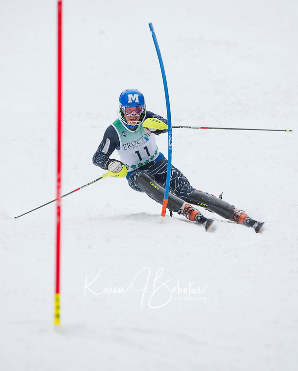 FIS Slalom mens run at Proctor Blackwater Ski Area in Andover, NH  December 31, 2012.