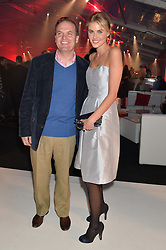 DONNA AIR and LORD DALMENY at the UK launch of the Ferrari California T held at Somerset House, the Strand, London on 24th April 2014.