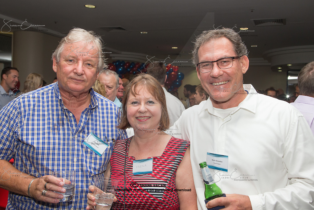Les Platt, Millena Young & Mark Snowden. RLB 40th Birthday, Hilton. Photo Shane Eecen Creative Light Studios