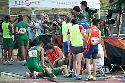 Behind the scenes, PRADO Lucas Guide:  MARTINS Lorenzo Alves, GOMES Felipe Guide:  BORGES Jorge, BRA, 100m, T11, 2013 IPC Athletics World Championships, Lyon, France