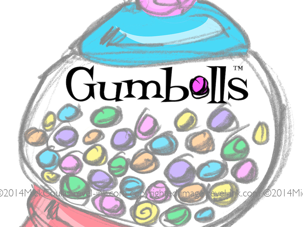 Gumballs™! Joyful and energetic drawings that combine vintage objects with bursts of flavorful color on products you will enjoy!