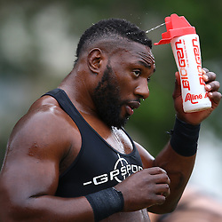 DURBAN, SOUTH AFRICA, Monday 11,January 2016 - Tendai Beast Mtawarira during The Cell C Sharks Pre Season training Monday 11th January 2016,for the 2016 Super Rugby Season at Growthpoint Kings Park in Durban, South Africa. (Photo by Steve Haag)<br /> images for social media must have consent from Steve Haag