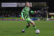 Forest Green Rovers Nathan McGinley(19) during the EFL Sky Bet League 2 match between Forest Green Rovers and Swindon Town at the New Lawn, Forest Green, United Kingdom on 21 December 2019.