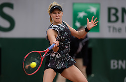 May 28, 2019 - Paris, FRANCE - Eugenie Bouchard of Canada in action during her first-round match at the 2019 Roland Garros Grand Slam tennis tournament (Credit Image: © AFP7 via ZUMA Wire)