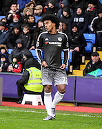 Willian of Chelsea in action during the Barclays Premier League match between Crystal Palace and Chelsea at Selhurst Park, London, England on 3 January 2016. Photo by Ken Sparks.