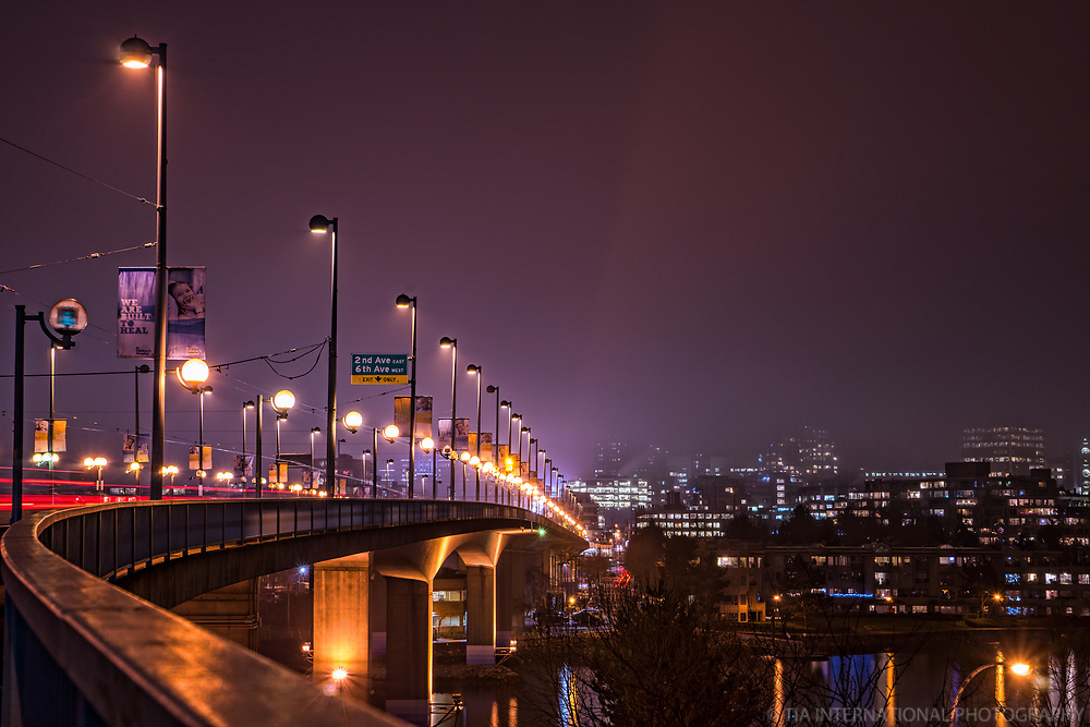 Cambie Bridge & False Creek @ Night