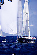 Blue two sailing during the St. Barth's Bucket 2011 race 1.