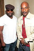 22 June-New York, NY-  l to r: Black Thought(ROOTS) and Rakim, the GOD MC backstage at the Mo' Meta Blues II Paid in Full 25th Anniversary with Rakim, Black Thought & The Roots Produced by Jill Newman Productions as part of the Blue Note Jazz Festival and held at the Blue Note on June 22, 2011 in New York City. Photo Credit: Terrence Jennings