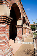 Brick Arch Columns, Mission San Juan Capistrano, California