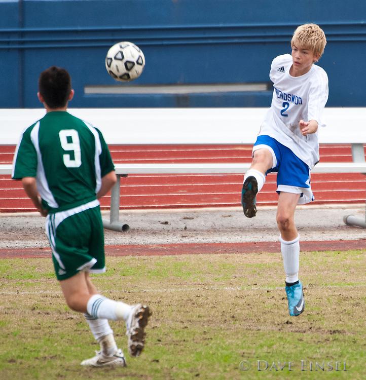 Stratford vs. Friendswood Men's JV Soccer match January 23, 2010 at Barnett Stadium in Houston. Friendswood won 1-0.