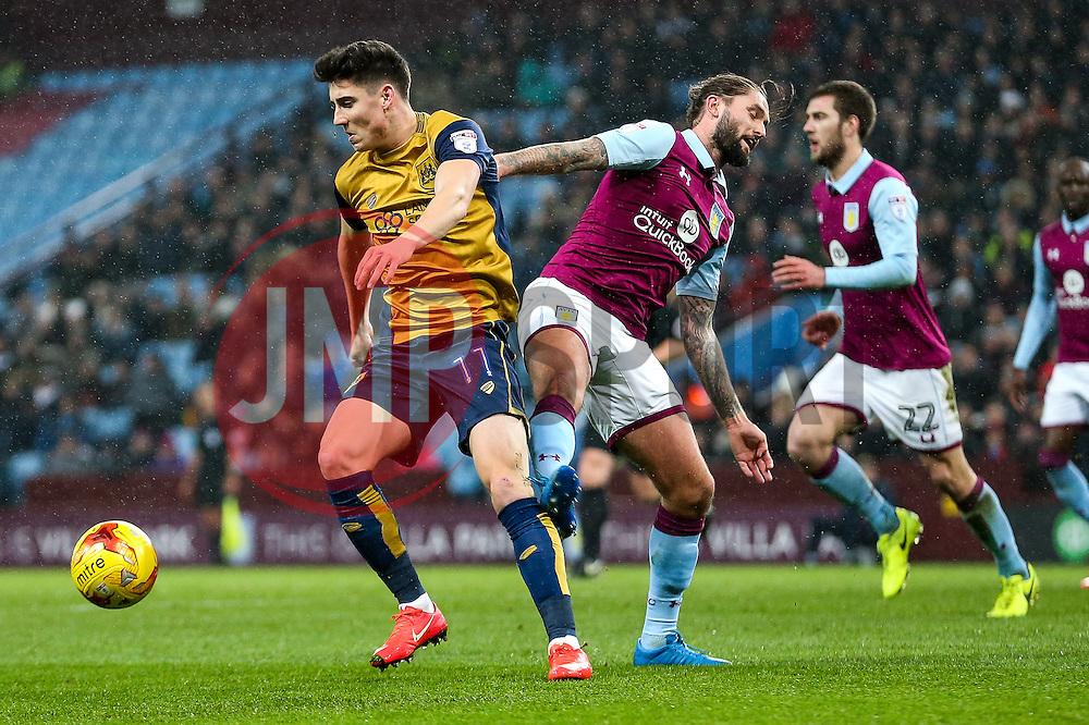 Callum O'Dowda of Bristol City is challenged by Mile Jedinak of Aston Villa - Rogan Thomson/JMP - 28/02/2017 - FOOTBALL - Villa Park - Birmingham, England - Aston Villa v Bristol City - Sky Bet EFL Championship.