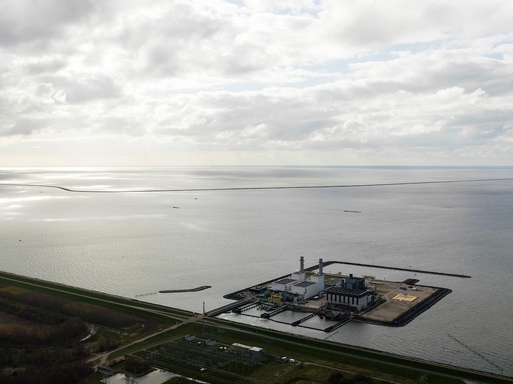 Nederland, Oostelijk Flevoland, 16-04-2012; Fleovocentrale. Houtribdijk en IJsselmeer in de achtergrond...QQQ.luchtfoto (toeslag), aerial photo (additional fee required).foto/photo Siebe Swart
