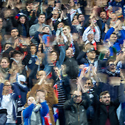 PARIS, FRANCE - March 25:  French supporters performing a clapping routine during the France V Iceland, 2020 European Championship Qualifying, Group Stage at  Stade de France on March 25th 2019 in Paris, France (Photo by Tim Clayton/Corbis via Getty Images)