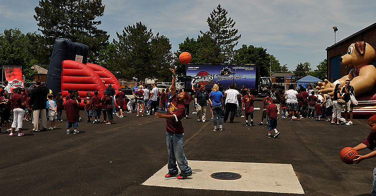 The Boys & Girls Clubs of Lorain County and the Cleveland Cavaliers held a Grand Opening and Ribbon Cutting ceremony at ithe new Elyria Recreation Center on Middle Avenue on June 12, 2009.